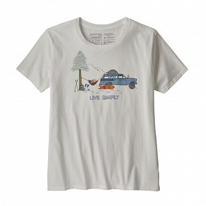 Patagonia Women's Live Simply Lounger Crew T-Shirt - White/Snow