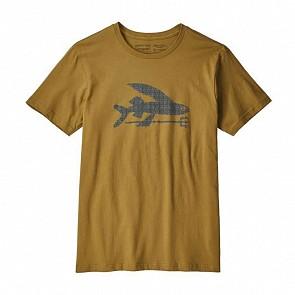Patagonia Flying Fish Organic Tee - Kastanos Brown/High Seas