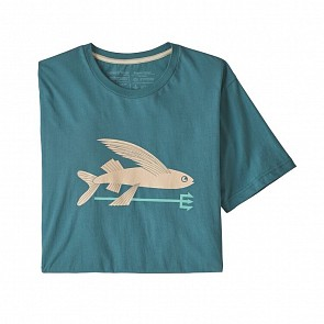 Patagonia Flying Fish Organic Cotton T-Shirt - Tasmanian Teal