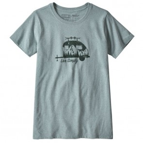 Patagonia Women's Live Simply Trailer Tee - Cadet Blue
