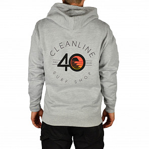 Cleanline 40 Hoodie - Heather Grey