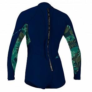 O'Neill Women's Bahia 2/1 Long Sleeve Back Zip Short Spring Wetsuit