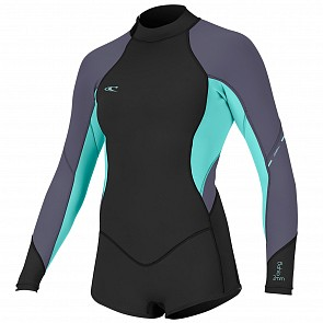 O'Neill Women's Bahia 2/1 Long Sleeve Back Zip Short Spring Wetsuit