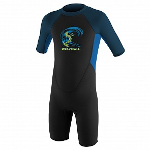 O'Neill Toddler Reactor II 2mm Spring Wetsuit - Black/Ocean/Slate