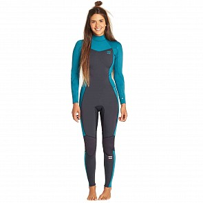 Billabong Women's Furnace Synergy 3/2 Back Zip Wetsuit - Pacific
