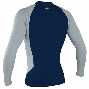 O'Neill Hyperfreak Neo Skins Long Sleeve Rash Guard - Abyss/Cool Grey