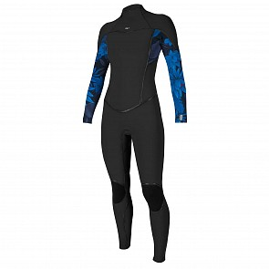 O'Neill Women's Psycho I 3/2 Back Zip Wetsuit - Black/BlueFaro/Black