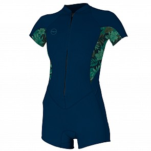 O'Neill Women's Bahia 2/1 Short Sleeve  Spring Wetsuit - Abyss/Faro/Abyss