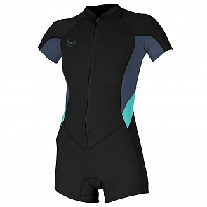O'Neill Women's Bahia 2/1 Short Sleeve Front Zip Spring Wetsuit