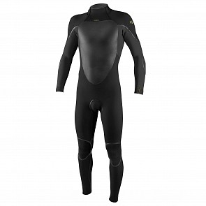 O'Neill Psycho Tech 4/3+ Back Zip Wetsuit - Black/Raven