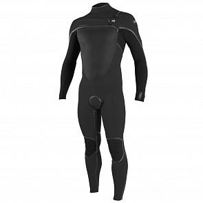 O'Neill Psycho Tech 4/3+ Chest Zip Wetsuit - Raven/Black