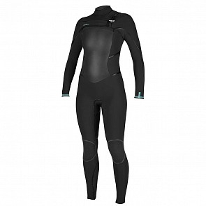 O'Neill Women's Psycho Tech 4/3+ Chest Zip Wetsuit - Black