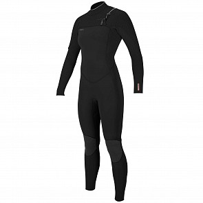 O'Neill Women's Hyperfreak 3/2+ Chest Zip Wetsuit - Black