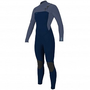 O'Neill Women's Hyperfreak 4/3+ Chest Zip Wetsuit - Abyss/Dusk