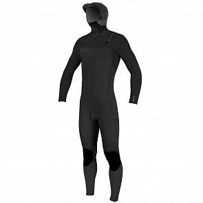 O'Neill Youth Hyperfreak 5.5/4+ Hooded Chest Zip Wetsuit - Black