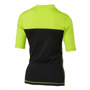 Quiksilver Wetsuits Youth Chop Block Rash Guard - Black/Lime