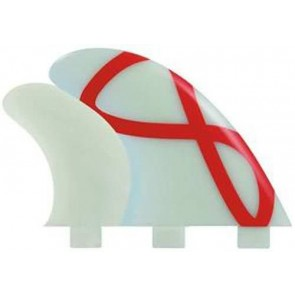 FCS Fins - M3 GF Quad GX - Glass/Red