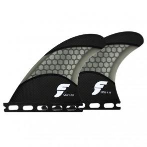 Futures Fins - QD2 4.15'' Quad Rears Techflex - Carbon/Smoke