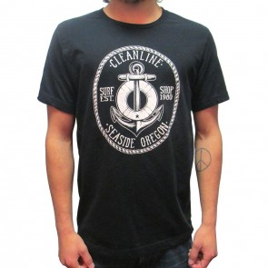 Cleanline Anchor Seaside T-Shirt - Black