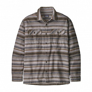 Patagonia Fjord Long Sleeve Flannel Shirt - Folk Dobby/Bristle Brown