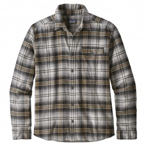 Patagonia Fjord Long Sleeve Lightweight Flannel - Bad Ombre/Black