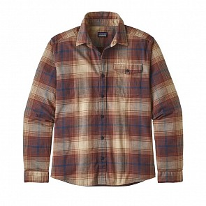 Patagonia Fjord Long Sleeve Flannel Shirt - Canopy/Sisu Brown