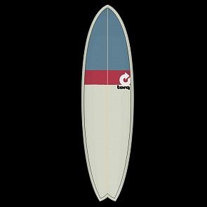 Torq Mod Fish 6'10 x 21 3/4 x 2 3/4 Sufboard - Sand/Red/Grey - Deck