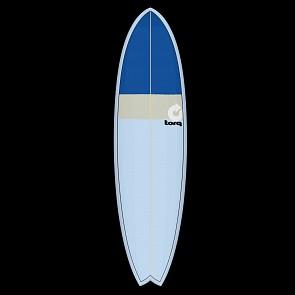 Torq Mod Fish 7'2 x 22 1/2 x 2 5/8 Surfboard - Blue/Sand/Blue - Deck