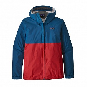 Patagonia Torrentshell Jacket - Big Sur Blue/Fire Red