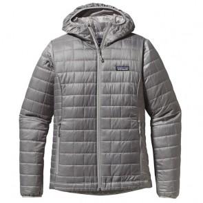 Patagonia Women's Nano Puff Hoodie Jacket - Feather Grey