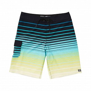 Billabong Youth Boys All Day Stripe Boardshorts - Neon Yellow