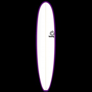 Torq Longboard 8'6 x 22 1/2 x 3 1/8 Surfboard - Purple/White - Top