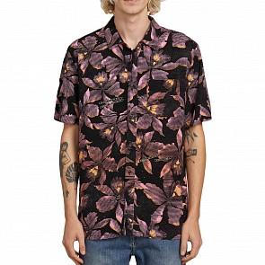 Volcom Resorto Vallarta Short Sleeve Shirt - Neon Pink