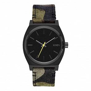 Nixon Time Teller Watch - Black/Camo/Volt