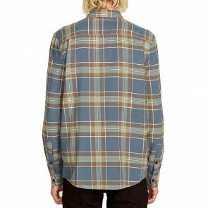 Volcom Caden Plaid Flannel - Indigo