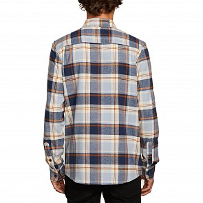 Volcom Caden Plaid Flannel - Slate Blue