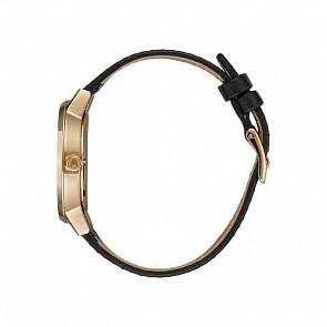 Nixon Women's Kensington Leather Watch - Gold/Black/Silver