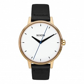 Nixon Women's Kensington Leather Watch - Gold/Bar