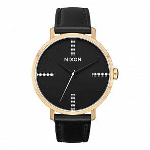 Nixon Arrow Leather Watch - Gold/Black/Silver