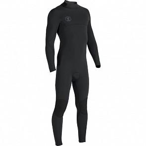 Vissla Seven Seas 4/3 Back Zip Wetsuit - Black/Jade