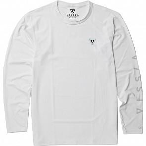 Vissla All Time Long Sleeve Rashguard - White - front