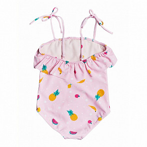 Roxy Youth Lovely Aloha Swimsuit - Rose Shadow