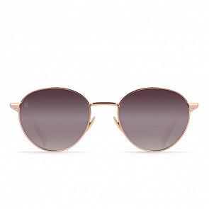 Raen Women's Andreas Sunglasses - Satin Rose Gold/Plum Gradient Mirror