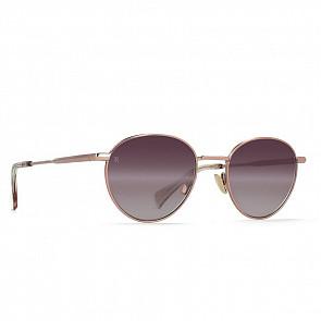Raen Women's Andreas Sunglasses - Satin Rose Gold/Plum Gradient Mirror - Side Angle