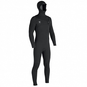 Vissla Seven Seas 4/3 Hooded Chest Zip Wetsuit - Black/Jade