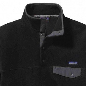 Patagonia Lightweight Synchilla Snap-T Fleece Pullover - Black/Forge Grey