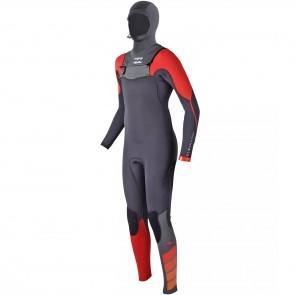 Billabong Youth Furnace Carbon Comp 5/4 Hooded Wetsuit - Orange