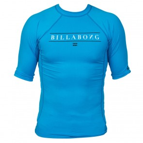 Billabong Wetsuits Youth All Day Short Sleeve Rash Guard - New Blue