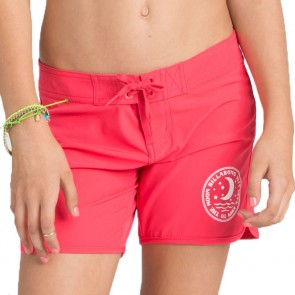 Billabong Girls Sol Searcher Boardshorts - Red Hot