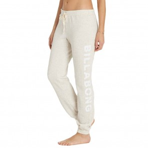 Billabong Women's Heritage Type Sweat Pants - Ice Athletic Grey
